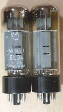 Pair Mullard EL34 valves tubes NOS Blackburn XF4 1970's Vintage HiFi Guitar Amp