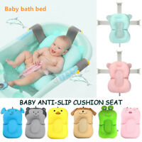Baby Bath Tub Net Air Cushion Pad Lounger Pillow Bed Seat Shower Bathtub