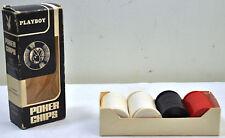 Vintage Playboy Magazine Plastic Hoyle interlocking Poker Chips 99 count in Box