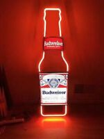 """MILLER VINTAGE NEON LIGHT BUDWEISER BOTTLE BUD BUSCH BEER BAR SIGN LIGHT 13""""X5""""Z"""