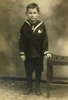 1920 Real Photo Postcard RPPC Bob Banning 5 yrs old Little Sailor Unposted