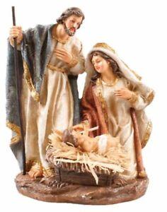 Xmas Nativity Holy Family 20 cm Christmas Ornament Hand Painted Made in Italy
