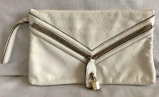 Designer D&G DOLCE & GABBANA White Leather Large Clutch Purse Day / Evening Bag