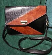 Custom Made Black &Tobacco Lizard & Fine Leather Handbag