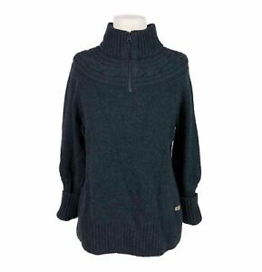 Columbia Sportswear She Pines For Alpine Large 1/4 Zip Pullover Cable Yoke Grey