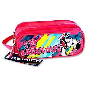 3 Pocket Pencil Case - I'm Fabulous Flamingo Design