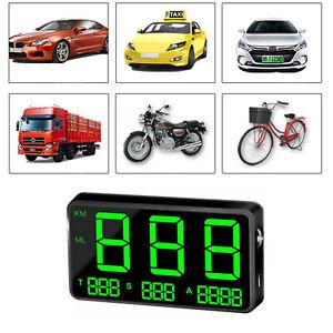 C80 Car GPS Speedometer HUD MPH / KM/h USB Plug&Play Overspeed Warning for Car