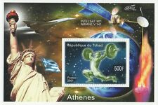 ATHENS OLYMPICS 2004 ARIANE SATELITE STATUE OF LIBERTY MNH STAMP SHEETLET