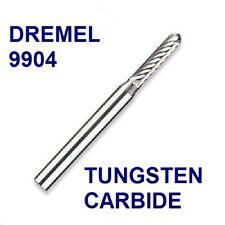 "NEW DREMEL AUTHENTIC TUNGSTEN CARBIDE HIGH SPEED CUTTER 9904 1/8"", (3.2MM) SHANK"