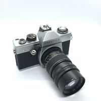 Vintage Praktica LTL2 35mm film camera with PRINZGALAXY F3.5 135MM Lens ,Great++
