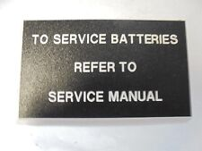 "TO SERVICE BATTERIES PANEL BOAT   5"" X 3"""