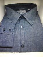 New Irish Linen Blend Men's Dress Shirt 151/2