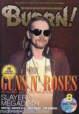 Burrn! Heavy Metal Magazine August 2006 Japan Guns N' Roses Slayer Whitesnake