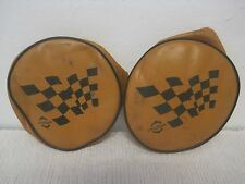 Lot of 2 RARE Chieftain Vinyl Motorcycle Headlight Covers Indian
