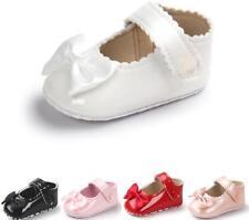 Newborn Baby Girl Spanish Style Patent Pram Shoes BowKnot Mary Jane Shoes 0-18 M