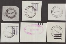 South Australia postmark selection on stampless piece