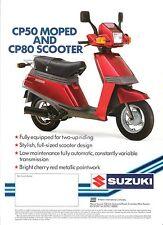 Suzuki CP50 GB Sales Brochure 50cc Moped & CP80 Scooter