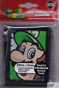 Super Mario Bros. Luigi TCG ULTRA PRO DECK PROTECTOR CARD SLEEVES NES