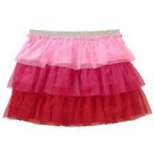 Valentine Girls Ruffled Pink and Red Tulle 3 Tier Tutu Skirt - L (10-12)