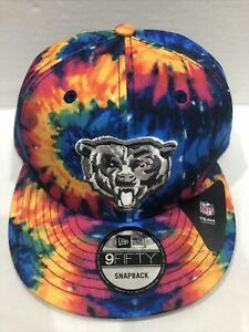 Chicago Bears 2020 Crucial Catch New Era Snapback Tie Dye Adjustable Hat