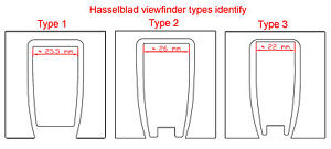 Hasselblad View finder replacement leatherette cover pre-cut self-adhesive!
