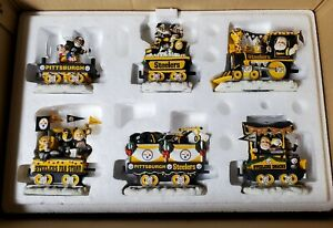 PITTSBURGH STEELERS CHRISTMAS EXPRESS DANBURY MINT ORNAMENT SET-NEW IN OPEN BOX