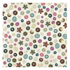 Cute as a Button Fabric - Toss on Beige - QT Quilting Treasures YARD
