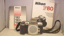 Nikon F80 Body, Gehäuse in Silber