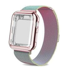 Screen Protector Bumper Case W/ Mesh Milanese Wrist Band Loop For Apple Watch