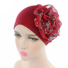 Stylish Women Ladies Flower Elastic Chemo Turban Hat Beanie Head Wrap Bonnet Cap