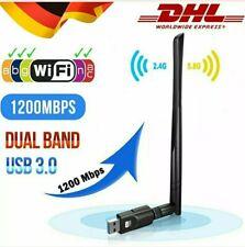 1200 Mbit/s 2,4&5 GHz Dual Band WIFI WLAN Stick Adapter USB IEEE 802.11ac/b/g/n