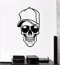 Skull Basecap tete de mort mural wallpaper mur Bijoux 57 x 84 CM