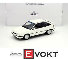 Norev Opel Kadett E GSi 1984-1991 White Model Car 1:18 183611 Genuine New