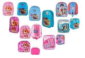Paw Patrol SKYE Kids Girls Boys School Backpack Lunch Box Pink Blue Rucksack Bag