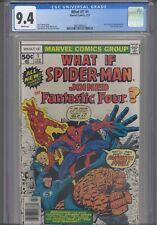 What If? #1 CGC 9.4 1977 Marvel :Brief Origin Spider-Man & Fantastic Four