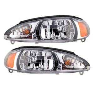 Ford Escort Mercury Tracer Set of Headlights