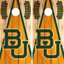 Baylor Bears Cornhole Wrap NCAA Logo Game Skin Decal Vinyl Set CO969