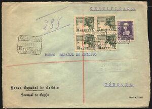 "Córdoba - Edifil 858 +817 Bl.4 - Carta ""Certificado 1/5/39 - Espejo"" a Madrid"