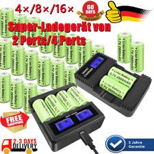 4/8/16x 2800mAh CR123A 123 16340 Akku Batterie Für Arlo Kamera + Multi-Ladegerät