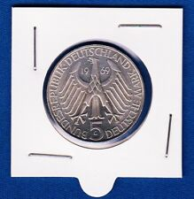 Germany silver coin, 5 Deutsche Mark 1969 G, Theodor Fontane, Nice silver coin !