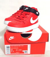 Nike Kids Baby Court Borough Mid 2 High Top Sneakers Tennis Shoes Red 7 Toddler