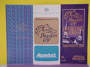 1984-1985-1988 breeders Cup programs.Great cond.never opened.New