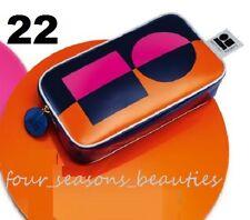 NEW Estee Lauder Lisa Perry Orange Pink Blue Makeup Cosmetic Purse Clutch Bag