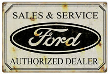 Ford Auto Dealer Reproduction Garage Shop Man Cave Metal Sign  18 x 30 In RVG192