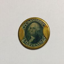 1862 Gault Ten Cent Civil War encased postage stamp