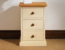 Hampton cream painted pine furniture bedside cabinet stand