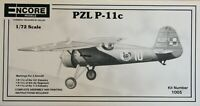 Encore 1/72 PZL P-11c unmade kit complete sealed bag.