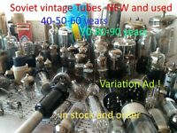 Soviet VINTAGE tubes assortment 6N6P 6N3P 6N5P 6N2P 6N1P 6N23P and other