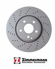 Mercedes CLS400 15-16 Disc Brake Rotor Front Zimmerman 400367620 / 0004211812