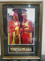 Hulk Hogan & Randy Savage Mounted & Framed Retro Memorabilia Retro Wrestling